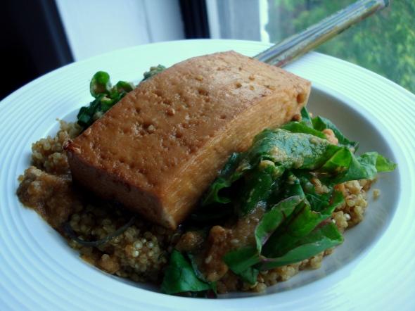 tofu with chard