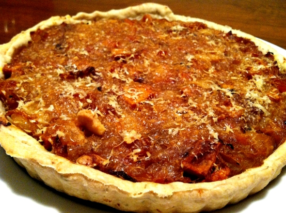 Apple Onion & Butternut Squash Tart